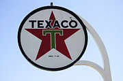 Fun Signs Posters - Vintage Sign For Texaco Poster by Bob Christopher