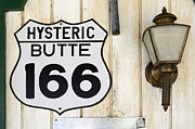 Fun Signs Posters - Vintage Sign Hysteric Butte 166 Poster by Bob Christopher