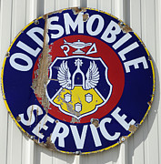 Just For Fun Posters - Vintage Sign Oldsmobile Service Poster by Bob Christopher