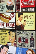 Hot Dogs Photos - Vintage Signs by Sophie Vigneault