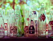 Antique Bottles Art - Vintage Soda Pop by Sonja Quintero