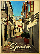 Spain Digital Art Posters - Vintage Spain Travel Poster by Vintage Poster Designs