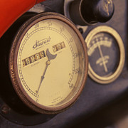 Antique Car Art Posters - Vintage Speedometer Poster by Tony Grider