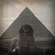 Tomb Photo Posters - Vintage Sphinx Poster by Jane Rix
