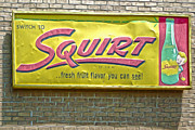 Gregory Dyer Posters - Vintage Squirt Sign Poster by Gregory Dyer