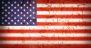 Grungy Prints - Vintage Stars and Stripes Print by Jane Rix