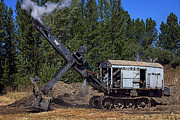 Boiler Photos - Vintage steam shovel by Garry Gay