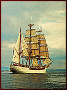 Tall Ships Prints - Vintage Tall Ship Print by Vintage Poster Designs