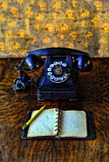 Phone Conversation Posters - Vintage Telephone and Notepad Poster by Jill Battaglia