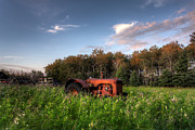 Ancient Tractor Prints - Vintage Tractor Print by Matt Dobson
