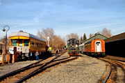 Sacramento Posters - Vintage Trains At The Old Sacramento Train Depot . 7D11513 Poster by Wingsdomain Art and Photography