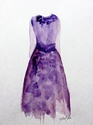 Evening Dress Paintings - Vintage by Trilby Cole
