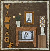 Home Decor Posters Mixed Media Posters - Vintage tv Poster by Alison Quine