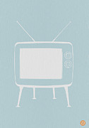 Kids Room Art Digital Art Prints - Vintage TV Poster Print by Irina  March