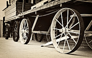 Wagon Wheels Photos - Vintage Wagon Wheels by Cheryl Davis
