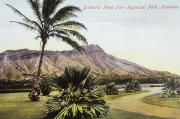 Featured Artwork - Vintage Waikiki Postcard by Hawaiian Legacy Archive - Printscapes