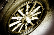 Cars Trucks And Ornaments - Vintage Wheel by Cathie Tyler
