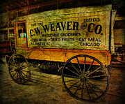 Brunette Prints - Vintage Wholesale Groceries Wagon - C.W. Weaver Company - vintage - nostalgia - general store -  Print by Lee Dos Santos