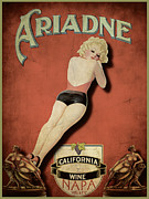 Up Framed Prints - Vintage Wine Ad II Framed Print by Cinema Photography