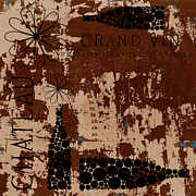 Grunge Mixed Media Posters - Vintage Wine Poster by Frank Tschakert