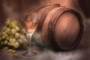 Wine Barrel Art - Vintage Wine by Tom Mc Nemar