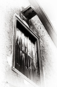 Brown Toned Art Photos - Vintage Wooden Window by John Rizzuto
