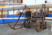 Vintage Airplane Metal Prints - Vintage Wright Brothers Type Airplane . 7D11147 Metal Print by Wingsdomain Art and Photography