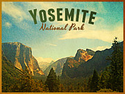 Yosemite National Park Digital Art - Vintage Yosemite National Park by Vintage Poster Designs