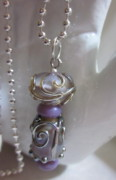 Ball Jewelry - Violet and Silver Necklace by Janet  Telander