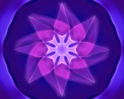 Meditative Digital Art - Violet by Ann Croon