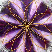 Mystical Paintings - Violet Chakra by Anne Cameron Cutri