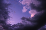Christiane Schulze Digital Art Posters - Violet Clouds Poster by Christiane Schulze