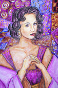 Elizabeth Taylor Paintings - Violet Eyes - liz Taylor by Nik Helbig