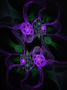 Violet Art Prints - Violet Floral Edgy Abstract Print by Andee Photography