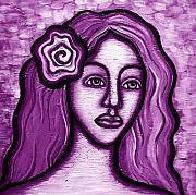Beautifull Posters - Violet Lady Poster by Brenda Higginson