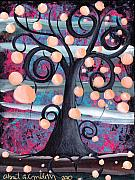 Coin Prints - Violeta Tree Print by  Abril Andrade Griffith