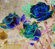 Oxymoron Prints - Violets are Red-Roses are Blue Print by Patricia Griffin Brett