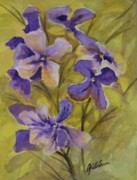 Purple Originals - Violets by Gretchen Bjornson