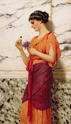 Daydream Prints - Violets Print by John William Godward