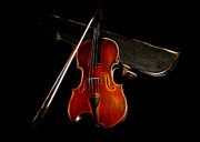 Violin Case Framed Prints - Violin And Case Framed Print by Trevor Ashford