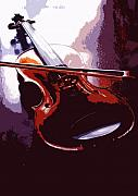 Violin Digital Art - Violin artistic by Steve Somerville