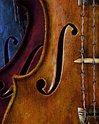 Violin Digital Art - Violin Composition by Rick Borstelman