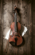 Wooden Prints - Violin Print by Garry Gay