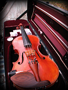 Violin Case Framed Prints - Violin Framed Print by Michael Mooney