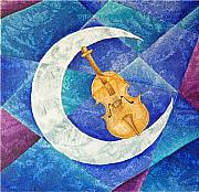 Couple Mixed Media - Violin-Moon by Son  Of the Moon
