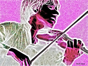 Sound Mixed Media Prints - Violin Print by Stephen Younts