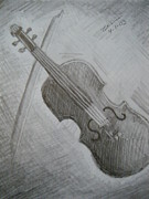 Orchestra Drawings Metal Prints - Violin Metal Print by Tatiana Baze