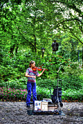 Concerto Art - Violinist in Central Park by Randy Aveille