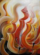 Violins Paintings - Violins by Svetlana Semenova
