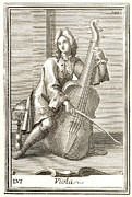 Westerhout Framed Prints - Violoncello, 1723 Framed Print by Granger